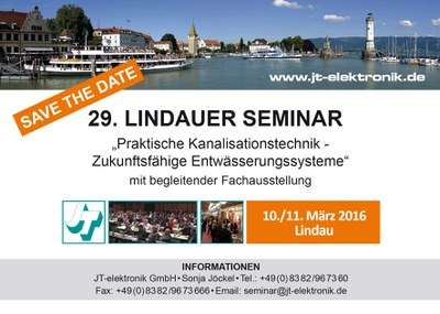 SAVE THE DATE - 29. Lindauer Seminar 2016